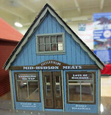 MID HUDSON MEATS O On30 Model Railroad Unpainted Structure Laser Kit DF427