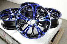 "17"" Wheels Accord Civic Fit Sonata Optima Spectra Lancer Blue Black 4x100 Rims"