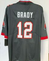 Tom Brady #12 Tampa Bay Buccaneers On-Field Jersey Pewter/Gray Size L-XL NWT