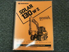Daewoo Solar 130W-III Hydraulic Excavator Owner Operator Maintenance Manual