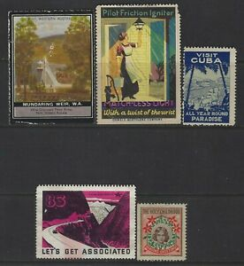 UNITED STATES & WORLDWIDE - SMALL GROUP OF POSTER STAMPS #3 CINDERELLA