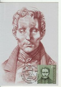 Moldova 2019 Louis Braille Personalities who changed the history Maxicard