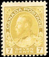 Mint NH Canada 7c 1916 F Scott #113 King George V Admiral Issue Stamp