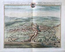 1712 Antique Print; Rare & Large; Cirencester Town & Park, Gloucs after Kip