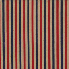 OLD GLORY GATHERINGS~BY 1/2 YD ~MODA~1073-13~ RED NAVY STRIPES ON TAN PIE CRUST