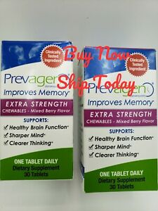 Lot of 2 Prevagen Extra Strength Berry 60 Total Chewables New Boxes ⭐Ships Quick