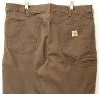 Carhartt 102517 Rugged Flex Rigby Brown Relaxed Fit Pants Jeans Mens 40x32