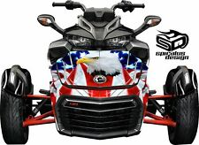 Can Am Spyder F3 Decal Graphic Wrap kit - Patriot USA. Bald Eagle HOOD & FENDER