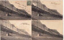 Lot 4 cartes postales anciennes DRÔME Vierge du Vercors 2