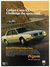 1983 OLDSMOBILE Cutlass Ciera ES Vintage Original Print AD Gray car photo canada
