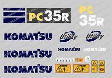Komatsu PC35R Digger Décalque Autocollant Set