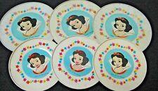 Vintage lot 6 Disney tin plates SNOW WHITE