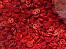 50  Tiny Micro Mini Round Red Scarlet Tones  Mix Buttons 1/8""