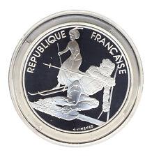 FRANKREICH - 100 Francs 1990 - OLYMPIA Albertville - Slalom - SILBER - ANSEHEN