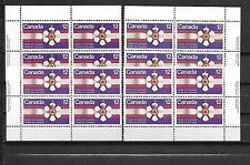 pk20526:Stamps-Canada #736 Order of Canada 12 Cent Plate Block Set -MNH