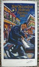 2006 New Orleans Jazz Fest Poster Fats Domino Remarque 433 / 1000 Double Signed