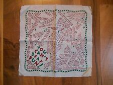 Old Vintage 1953 Souvenir Drink Cocktail Napkin You can't beat fun funny comic