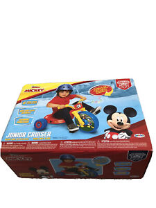 Kids Tricycle Bike Disney Mickey Mouse Fly Wheel Cruiser Red Kids Toddler Sound
