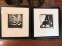 """ERIC KAMP Set of 2 ORIGINAL Signed Photographs France Photos 5.5""""x5.5"""""""