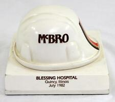 1982 McBro Blessing Hospital Quincy, IL Hard Hat Paperweight