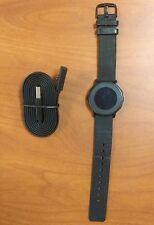 Pebble Time runde Smartwatch Edelstahlgehäuse Nero schwarz klassisch Schnalle