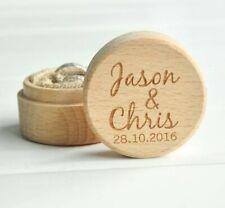 Personalised Wedding Ring Box Custom Wood Ring Holder Bearer Wedding Gift