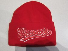 Wisconsin State embroidered Winter Hat (Red)