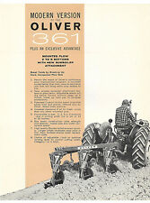 1963 Oliver 361 2 3 4 5 Bottom Mounted Plow Brochure 550 Tractor