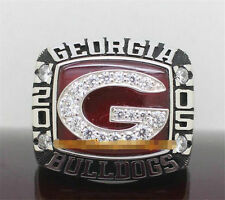High Quality 2005 Georgia Bulldogs Outback Bowl Championship Ring Solid Men !