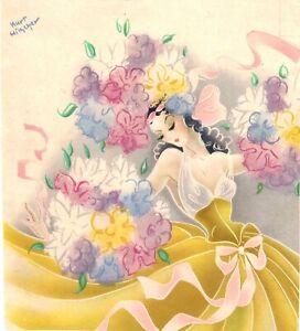 Original vintage print GERMAN FLOWER BALLET DANCER 1929