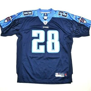 Reebok On Field Men's Size 46 Chris Johnson Tennessee Titans Jersey Sewn #28