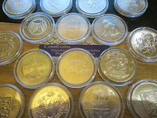 More details for various commemorative crown & dollar coin from uk & uk territories encapsulated