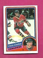 1984-85 OPC # 259 CANADIENS CHRIS CHELIOS  ROOKIE NRMT+ CARD (INV# D2787)