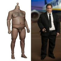 "1/6 Fat Male Body Model Durable 12"" Action Figure for Phicen ZC Toys Head Sculpt"
