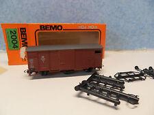 HH25) wagon couvert BEMO 2004 pour  train electrique HOe - HOm voie etroite