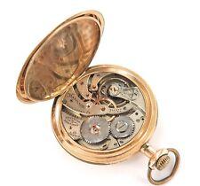 .1910 HAMILTON 12S 19J 14K GOLD POCKET WATCH, SUPER RARE ONLY 24,700 MADE