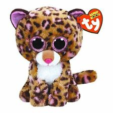 Ty Beanie Boos Patches the Leopard W/Glitter Eyes (Medium Size 9 inch) Nwt