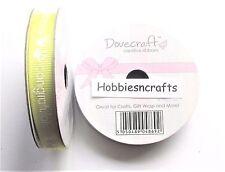 1cm DOVECRAFT Creative Ruban gros grain MOULINET - Bébé gamme jaune