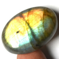 Cts. 35.90 Natural Sunset Fire  Labradorite Cabochon Pear Cab Loose Gemstone