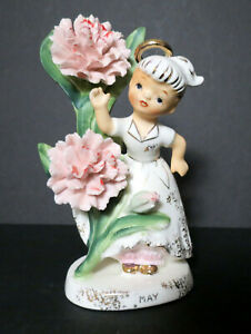Vintage LEFTON Flower Girl of the Month Figurine - MAY #985