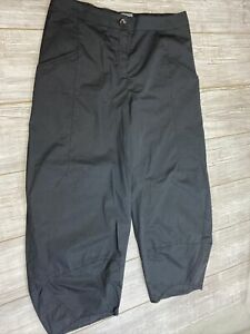 NWOT OSKA Women's Hose Black Pants Pockets Front Zip Sz 5 100% Cotton light
