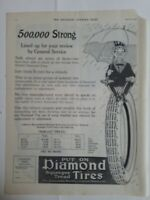 1915 Diamond tires Mr Squeegee character Akron Ohio vintage ad
