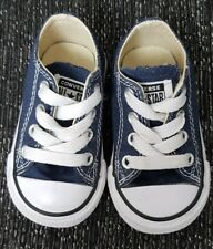 Baby Infant Boys 3 Navy and White Converse /All Star /  Size UK IVGC