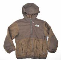 The North Face Junior Youth Brown Full Zip Fleece Jacket Coat SZ M