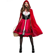 Women Lady Little Red Riding Hood Costume Halloween Cosplay Adult Child Outfit