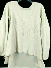 Anthropologie Knitted and Knotted Womens Alpaca Wool Blend Sweater Size Small