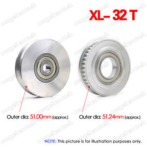 """XL32T Timing Belt Idler Pulley 8/10/12/15mm Bore 1/5"""" Pitch for 10mm Width Belt"""