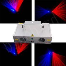 New2 lens 200mw 650nm Red+300mw 450nm Blue DMX disco laser lights show equipment
