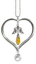 Car Charm Heart Shaped Angels Watch over my Family Ganz ER23496