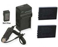 2 Batteries + Charger for Sanyo VPC-HD2000A VPC-HD2000ABK VPC-HD2000EX VPC-TH1